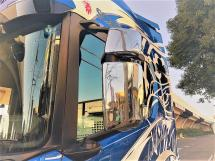 ☆Stainless Steel Mirror Cover R/L for SCANIA NEXT GENERATION R&S☆ <ステンレスミラーカバー>